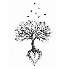 les arbres d coratifs racines illustration vectorielle clip art libres de droits vecteurs. Black Bedroom Furniture Sets. Home Design Ideas