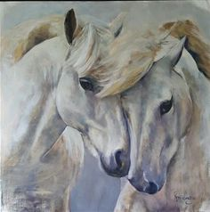 """Horses - Daily Paintworks - """"My other half"""" - Original Fine Art for Sale - © Rentia Coetzee Horse Drawings, Art Drawings, Equine Art, Horse Pictures, Wildlife Art, Horse Art, Fine Art Gallery, Beautiful Horses, Art Oil"""
