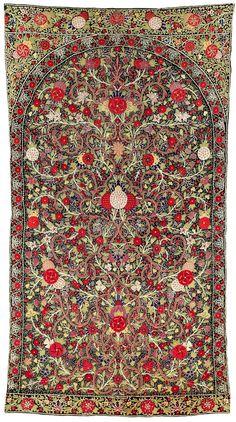 Rasht Embroidery, North Persia, 200 x 110 cm, 19th century.