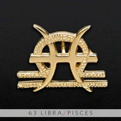 63 Libra and Pisces Gold Unity Pendant