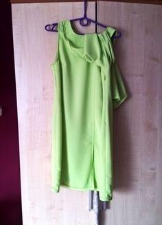 Kup mój przedmiot na #vintedpl http://www.vinted.pl/damska-odziez/krotkie-sukienki/14759788-limonkowa-sukienka-trapezowa-z-dodatkowa-zakladka
