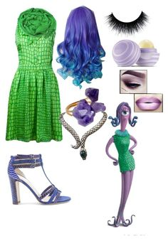 A fashion look from September 2015 featuring silk dress, strap sandals and indian jewellery. Browse and shop related looks. Monsters Inc Halloween Costumes, Monster Inc Costumes, Themed Halloween Costumes, Halloween Carnival, Creative Halloween Costumes, Disney Halloween, Baby Halloween, Diy Costumes, Halloween Ideas