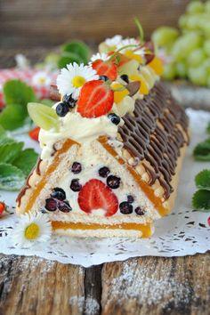 Owocowa chatka baby Jagi Good Food, Yummy Food, Oreo Cupcakes, Cheesecake, Lunch, Cook, Baking, Sweet, Desserts