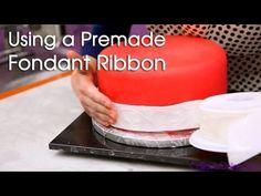 How to Use a Fondant Ribbon | Cake Tutorials