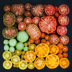 Color-organized arrays of food and plants, photographed by Emily Blincoe