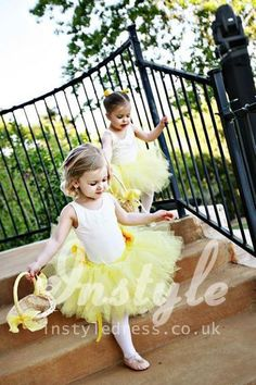 Image result for flower girl dresses yellow and white