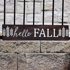 DIY Hello Fall Sign using the Silhouette - Lil' Mrs. Tori