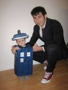 If you've ever changed a diaper, I think you can agree babies are definitely bigger on the inside much like a #Tardis! #costumes