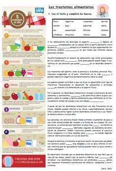Recursos para profesores de español: AS Gap-fills para la unidad de la vida sana.