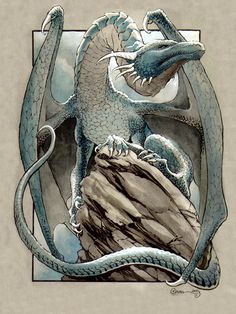 Blue Dragon 3 by DanielGovar on DeviantArt