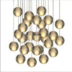 Bricolage personnalisés lustres en cristal éclairage magique boule de cristal Meteor lumières de Style Pendentes G4 LED lampes dans Éclairage suspendu de Lumière et éclairage sur AliExpress.com | Alibaba Group