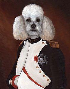 """Old World Portrait - """"Phil Napoleon"""" Miniature Poodle"""