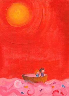 Edie Art - red