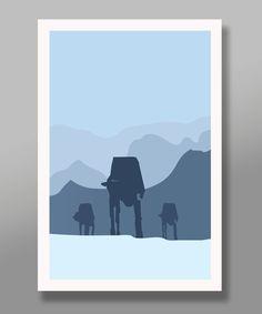 Star Wars Inspired Hoth Tribute Minimalist by BigTimePosters Star Wars Poster, Star Wars Art, Star Wars Nursery, Star Wars Prints, Geek Decor, Nerd Art, Movie Poster Art, Minimalist Poster, Film