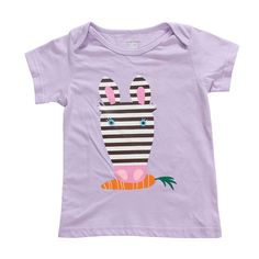 2015 New Little Maven Baby Girl Children Rabbit Purple Cotton Short Sleeve T-shirt Top – Kiser Variety Shop