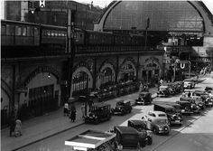 Berlin: Bahnhof Alexanderplatz; Prälat am Alexanderplatz (Außenaufnahme vom Polizeipräsidium) 1936