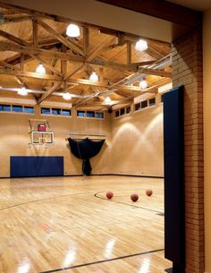 Contemporary Home Basketball Court - Luxe Interiors + Design