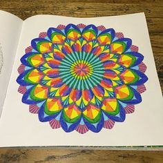 Mandala. #mandala #shadyas #tropicalwonderland #milliemarotta #colouring #colour