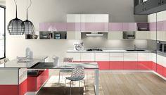 Cocinas modernas llenas de colorido Scavolini (II). Decoración del hogar.