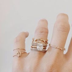 love a ring stack and Natalie Marie Jewellery stacks 'em good.