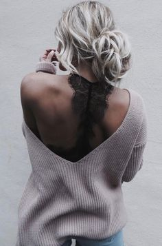 Low back sweater