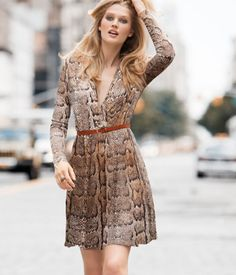 H&M Snakeprint Wraparound Dress £12.99