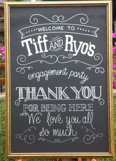 cute engagement party welcome - Google Search