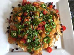 Vegan Guilt Free Potato Nachos...A Game Day Treat!