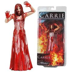 scary action figures | home neca horror action figures carrie 2013 remake carrie white bloody ...