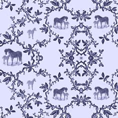 toilehorsenavy fabric by ragan on Spoonflower - custom fabric