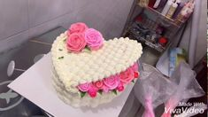Bánh Kem Giỏ Hoa Trái Tim - Decor Birthday Cake Flower Birthday Cakes For Women, Made With Vivavideo, Cake Decorating, Desserts, Youtube, Tricks, Food, Cupcake, Layers