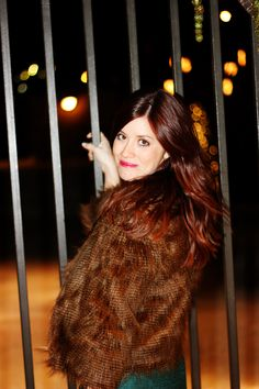 the brunette one: My Style: Lace & Fur