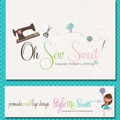 Premade Logo Design Sewing Machine Needle by stylemesweetdesign, $95.00