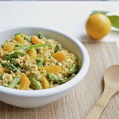 Virtually Homemade: Spring Couscous Salad with Asparagus, Peas, Orange and a Citrus Vinaigrette