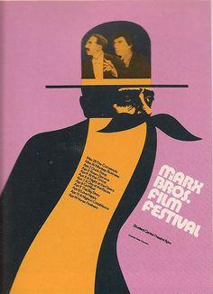 Poster by John J Sorbie, Marx Bros Film Festival, USA.