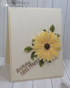 Stampin' Up! Daisy Delight Sunflower Birthday Card – Stamp With Amy K