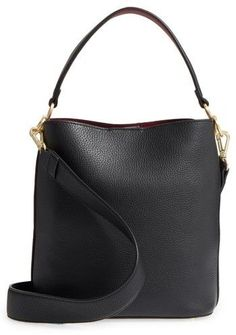 Sam Edelman Small Nya Faux Leather Bucket Bag - Black Bucket Bags 58bc6bb8978