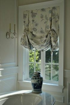 Balloon valances for bedroom Valance Window Treatments, Custom Window Treatments, Window Coverings, Curtains With Blinds, Window Curtains, Curtains Inside Window Frame, Balloon Valance, Balloon Shades, Enchanted Home