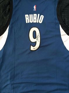 Details about RICKY RUBIO Autograph Signed Minnesota Timberwolves Jersey  PSA DNA COA Utah Jazz a2bb0d6a2