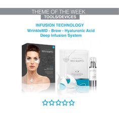 The Wrinkle MD Deep Infusion system - deep infusions of Hyaluronic Acid (HA) for naturally younger looking skin. Younger Looking Skin, Hyaluronic Acid, Brows, Deep, Technology, Eyebrows, Tech, Eye Brows, Tecnologia