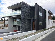 SUMNER Schist mobile site for veneer panels. Large range of NZ Stone and imported cladding options Stone Cladding Texture, House Cladding, Veneer Panels, Beach House, Brick, Tiles, Home And Garden, Exterior, Range
