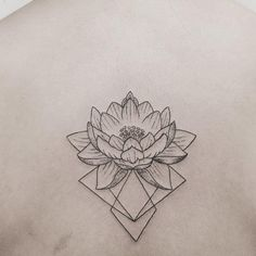 Geometric lotus tattoo by Hannah Nova Dudley #HannahNovaDudley #lotus #flower #geometric #geometry https://www.tattoodo.com/images/0/76845.jpg