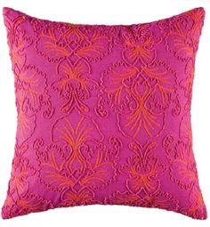 Cushion cover kas 45cm x 45cm albie pink square cushion new kas ON SALE  A