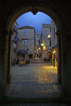 Streets of Korcula, Croatia