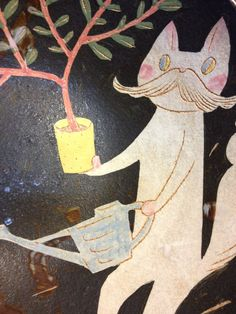 Makoto Kagoshima. 'Dr. bonsai' plate (detail).