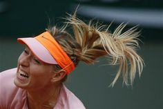 Russia's Maria Sharapova serves the ball to compatriot Ksenia Pervak during their first round match of the French Open tennis tournament at the Roland Garros stadium, in Paris, France, Monday, May 26, 2014. Sharapova won 6-1, 6-2. (AP Photo/Michel Euler) ▼27May2014AP|What to look for Wednesday at the French Open http://bigstory.ap.org/article/what-look-wednesday-french-open #Maria_Sharapova #French_Open #Internationaux_de_France_de_tennis #Torneo_de_Roland_Garros