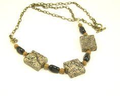 Rainforest Marble Gemstone Necklace Chunky by BobblesByCarol, $19.00
