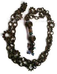 Meditation Vessel Necklace - Unisex Copper Meditation Necklace - Amethyst Necklace - Quartz Necklace - Peridot Necklace - Magnesite Necklace