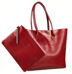 melikafashion.com | Classic Tote Bag in Poppy Red (tote bag only)