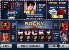 Бесплатный игровой слот автомат Rocky. Лучший азартный слот от Плейтех.